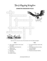 Crossword Puzzle from The Collapsing Kingdom