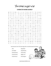 Word Search from The Great Sugar War