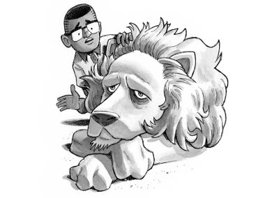 Alvin and the Old Lion in The Land without Color