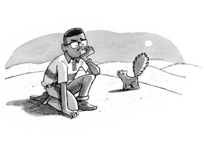 Alvin searching the Sugar Desert in The Land without Color