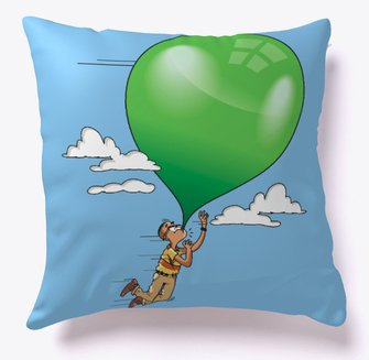 Alvin floating pillow from Teespring