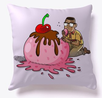 Alvin eating ice cream pillow from Teespring