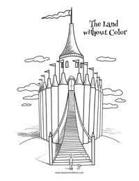 Coloring page from The Land without Color